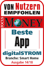 digitalstrom smart home app testsieger im focus money. Black Bedroom Furniture Sets. Home Design Ideas